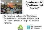 """Conferencia """"Cultura del Buceo"""" en la Biblioteca Amado Nervo."""
