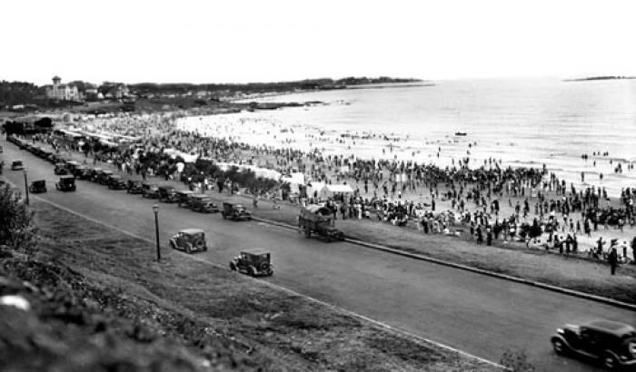 Playa Buceo. Año 1936 (Foto 6636 FMH.CMDF.IMM.UY)
