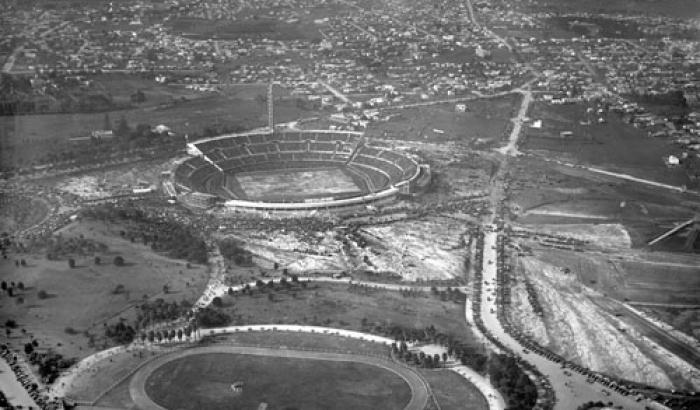 Vista aérea del Parque Batlle. Año 1930 (Foto 167e FMH.CMDF.IMM.UY)