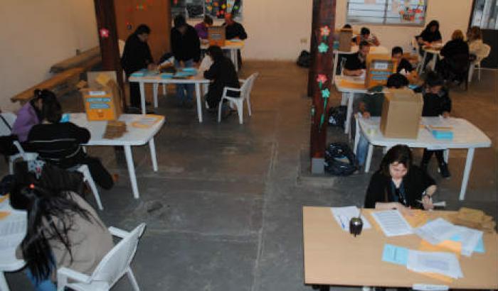 Escrutinio de la zona 4, Centro Cultural Las Heras.